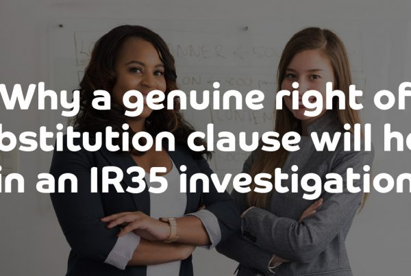Why a genuine right of substitution clause will help in an IR35 investigation | ContractingWISE